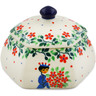 4-inch Stoneware Jar with Lid - Polmedia Polish Pottery H7350J