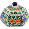 4-inch Stoneware Jar with Lid - Polmedia Polish Pottery H7354J