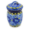 4-inch Stoneware Jar with Lid - Polmedia Polish Pottery H8279J