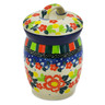 4-inch Stoneware Jar with Lid - Polmedia Polish Pottery H8281J