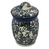 4-inch Stoneware Jar with Lid - Polmedia Polish Pottery H8283J