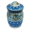 4-inch Stoneware Jar with Lid - Polmedia Polish Pottery H8284J