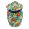 4-inch Stoneware Jar with Lid - Polmedia Polish Pottery H8285J