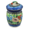 4-inch Stoneware Jar with Lid - Polmedia Polish Pottery H8289J