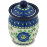 4-inch Stoneware Jar with Lid - Polmedia Polish Pottery H8522G