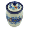 4-inch Stoneware Jar with Lid - Polmedia Polish Pottery H8718H