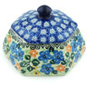 4-inch Stoneware Jar with Lid - Polmedia Polish Pottery H9239A