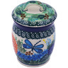 4-inch Stoneware Jar with Lid - Polmedia Polish Pottery H9329G