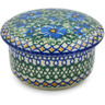 4-inch Stoneware Jar with Lid - Polmedia Polish Pottery H9729B