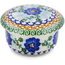 4-inch Stoneware Jar with Lid - Polmedia Polish Pottery H9794B