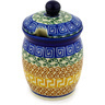 4-inch Stoneware Jar with Lid with Opening - Polmedia Polish Pottery H1734D