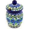 4-inch Stoneware Jar with Lid with Opening - Polmedia Polish Pottery H2190D