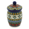 4-inch Stoneware Jar with Lid with Opening - Polmedia Polish Pottery H3972A