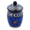 4-inch Stoneware Jar with Lid with Opening - Polmedia Polish Pottery H3996C