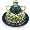 4-inch Stoneware Mini Cheese Lady - Polmedia Polish Pottery H4922D