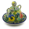 4-inch Stoneware Mini Cheese Lady - Polmedia Polish Pottery H9950I