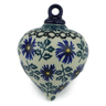 4-inch Stoneware Ornament Christmas Ball - Polmedia Polish Pottery H0095C