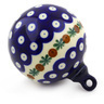 4-inch Stoneware Ornament Christmas Ball - Polmedia Polish Pottery H0337F