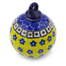4-inch Stoneware Ornament Christmas Ball - Polmedia Polish Pottery H0732J