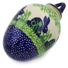 4-inch Stoneware Ornament Christmas Ball - Polmedia Polish Pottery H2772K