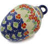 4-inch Stoneware Ornament Christmas Ball - Polmedia Polish Pottery H2773K