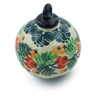 4-inch Stoneware Ornament Christmas Ball - Polmedia Polish Pottery H3017J