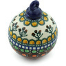 4-inch Stoneware Ornament Christmas Ball - Polmedia Polish Pottery H4035A