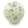 4-inch Stoneware Ornament Christmas Ball - Polmedia Polish Pottery H4202I
