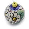 4-inch Stoneware Ornament Christmas Ball - Polmedia Polish Pottery H4505J