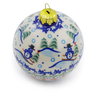 4-inch Stoneware Ornament Christmas Ball - Polmedia Polish Pottery H4506J