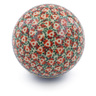 4-inch Stoneware Ornament Christmas Ball - Polmedia Polish Pottery H4507J