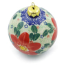 4-inch Stoneware Ornament Christmas Ball - Polmedia Polish Pottery H4509J