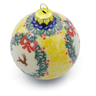 4-inch Stoneware Ornament Christmas Ball - Polmedia Polish Pottery H4511J