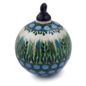 4-inch Stoneware Ornament Christmas Ball - Polmedia Polish Pottery H4890G