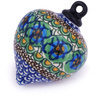 4-inch Stoneware Ornament Christmas Ball - Polmedia Polish Pottery H5562G