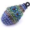 4-inch Stoneware Ornament Christmas Ball - Polmedia Polish Pottery H5563G