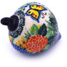 4-inch Stoneware Ornament Christmas Ball - Polmedia Polish Pottery H5564G