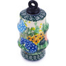 4-inch Stoneware Ornament Christmas Ball - Polmedia Polish Pottery H5567G