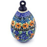 4-inch Stoneware Ornament Christmas Ball - Polmedia Polish Pottery H5672E