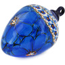 4-inch Stoneware Ornament Christmas Ball - Polmedia Polish Pottery H5709J
