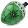 4-inch Stoneware Ornament Christmas Ball - Polmedia Polish Pottery H5711J