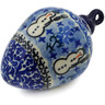 4-inch Stoneware Ornament Christmas Ball - Polmedia Polish Pottery H5712J