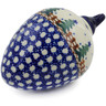 4-inch Stoneware Ornament Christmas Ball - Polmedia Polish Pottery H5865K