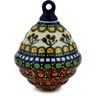 4-inch Stoneware Ornament Christmas Ball - Polmedia Polish Pottery H5883C