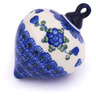 4-inch Stoneware Ornament Christmas Ball - Polmedia Polish Pottery H5884G