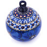 4-inch Stoneware Ornament Christmas Ball - Polmedia Polish Pottery H5953G