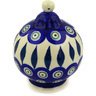 4-inch Stoneware Ornament Christmas Ball - Polmedia Polish Pottery H5962D