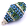 4-inch Stoneware Ornament Christmas Ball - Polmedia Polish Pottery H6409G