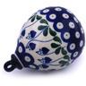 4-inch Stoneware Ornament Christmas Ball - Polmedia Polish Pottery H6413G