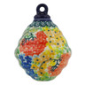 4-inch Stoneware Ornament Christmas Ball - Polmedia Polish Pottery H6424G